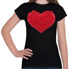 PRINTFASHION Szív - Női póló - Fekete