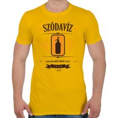 PRINTFASHION szodaviz-brown-orange - Férfi póló - Sárga