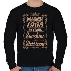 PRINTFASHION Születésnap - Napfény egy kis hurrikánnal! - Férfi pulóver - Fekete