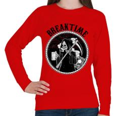 PRINTFASHION Szünet - Női pulóver - Piros