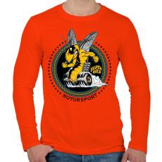 PRINTFASHION Szuper méh - Férfi hosszú ujjú póló - Narancs