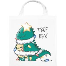 PRINTFASHION T-rex karácsonyfa - Vászontáska - Fehér