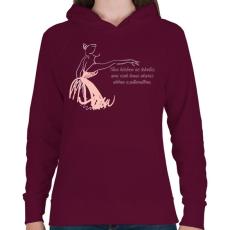 PRINTFASHION Tánc - Női kapucnis pulóver - Bordó