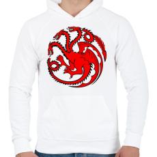 PRINTFASHION Targaryen címer - Férfi kapucnis pulóver - Fehér