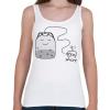PRINTFASHION Tea-shirt - Női atléta - Fehér