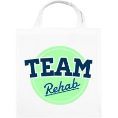 PRINTFASHION TEAM Rehab Green - Vászontáska - Fehér
