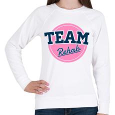 PRINTFASHION TEAM Rehab Pink - Női pulóver - Fehér
