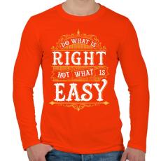 PRINTFASHION Tedd, ami helyes - Férfi hosszú ujjú póló - Narancs