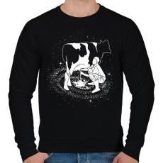 PRINTFASHION Tejút - Férfi pulóver - Fekete