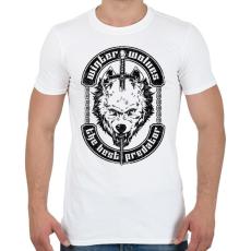 PRINTFASHION Télen a farkasok a legjobb ragadozók - Férfi póló - Fehér
