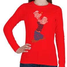PRINTFASHION Tengerész - Női hosszú ujjú póló - Piros