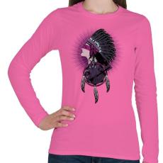 PRINTFASHION Tények - Női hosszú ujjú póló - Rózsaszín