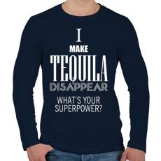 PRINTFASHION Tequila disappear - Férfi hosszú ujjú póló - Sötétkék