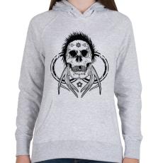 PRINTFASHION Tetkó koponya - Női kapucnis pulóver - Sport szürke