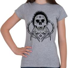PRINTFASHION Tetkó koponya - Női póló - Sport szürke
