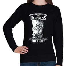 PRINTFASHION The darkness - Női pulóver - Fekete