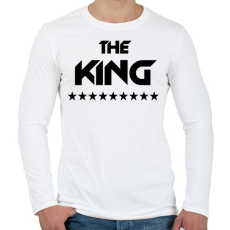 PRINTFASHION The King - Férfi hosszú ujjú póló - Fehér