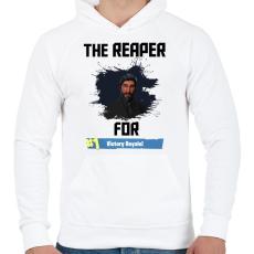 PRINTFASHION The Reaper - Férfi kapucnis pulóver - Fehér