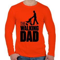 PRINTFASHION The Walking Dad - Férfi hosszú ujjú póló - Narancs