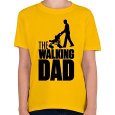 PRINTFASHION The Walking Dad - Gyerek póló - Sárga