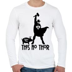 PRINTFASHION This no Thor - Férfi hosszú ujjú póló - Fehér