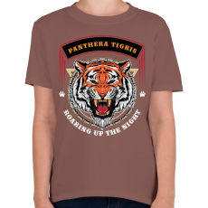 PRINTFASHION Tigris - Gyerek póló - Mogyoróbarna