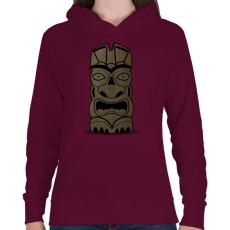 PRINTFASHION Tiki - Női kapucnis pulóver - Bordó