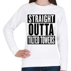 PRINTFASHION Tilted Towers - Női pulóver - Fehér