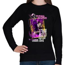 PRINTFASHION TO FALL IN LOVE - Női pulóver - Fekete