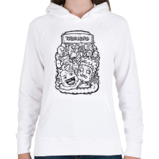 PRINTFASHION Tökfej - Női kapucnis pulóver - Fehér