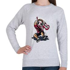 PRINTFASHION Törd meg a csendet! - Női pulóver - Sport szürke