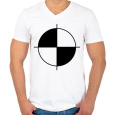 PRINTFASHION töresteszt - Férfi V-nyakú póló - Fehér