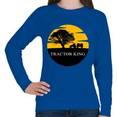 PRINTFASHION TRACTOR KING - Női pulóver - Királykék