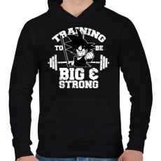 PRINTFASHION Trainging to be be and strong - Férfi kapucnis pulóver - Fekete