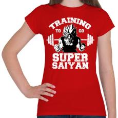 PRINTFASHION Training to go super saiyan - Női póló - Piros