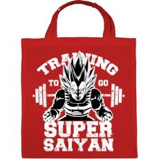PRINTFASHION Training to super saiyan - Vászontáska - Piros