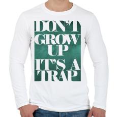 PRINTFASHION Trap - Férfi hosszú ujjú póló - Fehér