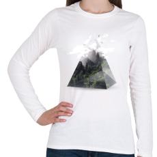 PRINTFASHION Triangle - Női hosszú ujjú póló - Fehér