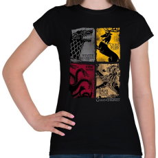 PRINTFASHION Trónok harca - Női póló - Fekete