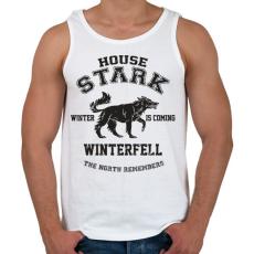 PRINTFASHION Trónok harca: Stark house - Férfi atléta - Fehér