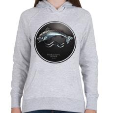 PRINTFASHION Trónok harca: Tully ház - Női kapucnis pulóver - Sport szürke
