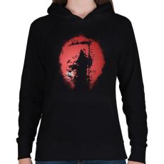 PRINTFASHION Túlvilág - Női kapucnis pulóver - Fekete