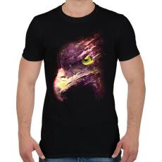 PRINTFASHION Tűzgolyó - Férfi póló - Fekete