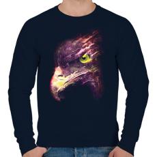 PRINTFASHION Tűzgolyó - Férfi pulóver - Sötétkék