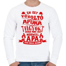 PRINTFASHION Tűzoltó Apuka - Férfi pulóver - Fehér