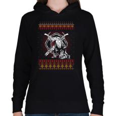 PRINTFASHION Tűzoltó karácsony - Női kapucnis pulóver - Fekete