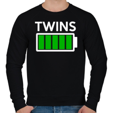 PRINTFASHION TWINS - Férfi pulóver - Fekete