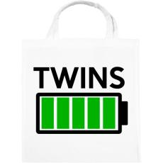 PRINTFASHION TWINS - Vászontáska - Fehér