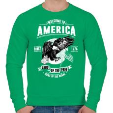 PRINTFASHION Üdv Amerikában - Férfi pulóver - Zöld
