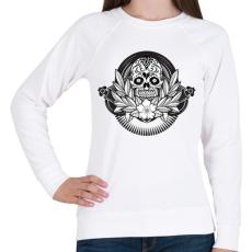 PRINTFASHION Ünnepi koponya - Női pulóver - Fehér